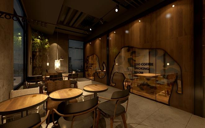 """宝山""""Zoo_Coffee""""主题咖啡连锁店设计(上海)"""