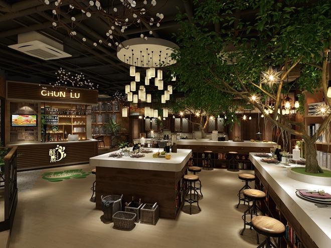 """上海合生汇""""ChunLu""""创意餐厅设计方案(中国)"""