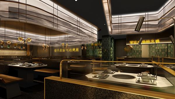 """金山万达""""亿鼎烩""""火锅休闲餐厅设计(上海)"""